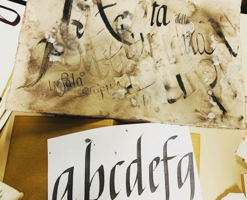 laboratorio calligrafia krill academy