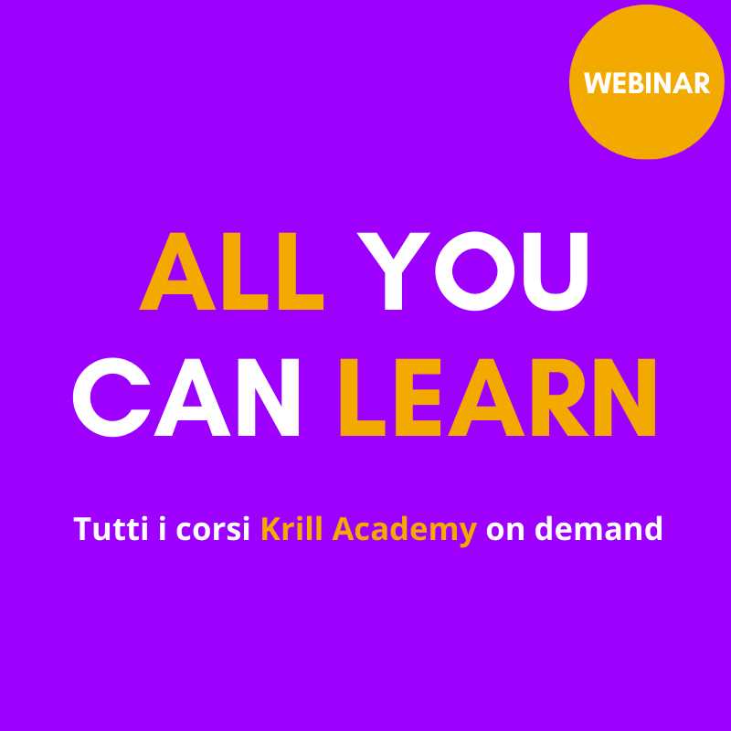 All you can learn - Tutti i corsi Krill Academy